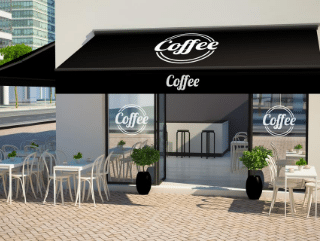 cafe awnings and patio awnings